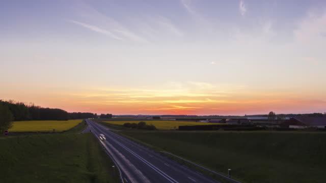 hyperlapse on a bridge over a freeway - motorway stock videos & royalty-free footage