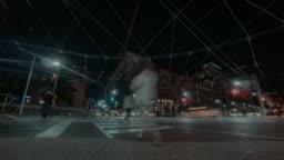 Hyperlapse on the corner of Bathurst and King street in Toronto.