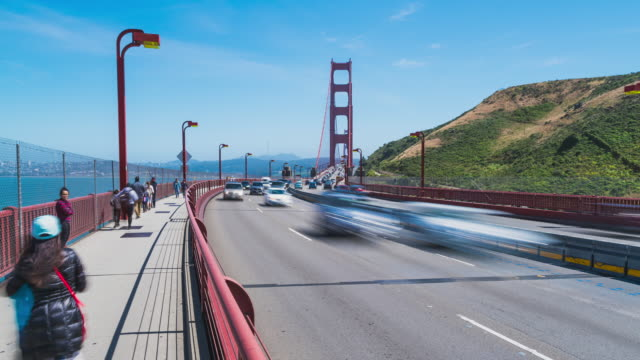 Hyperlapse on the Golden Gate Bridge in San Francisco