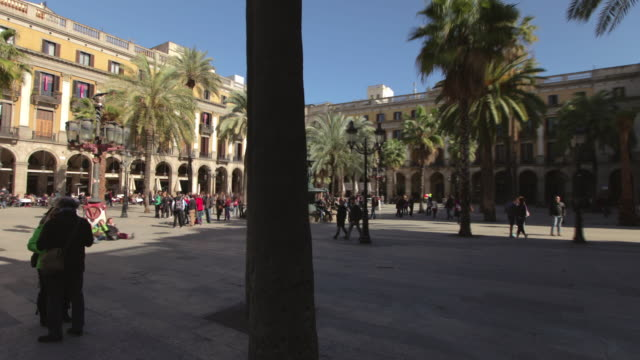 tl hyperlapse placa reial day - gothic quarter barcelona stock videos and b-roll footage