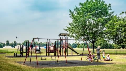 hyperlapse shot of a playground - northampton stock-videos und b-roll-filmmaterial