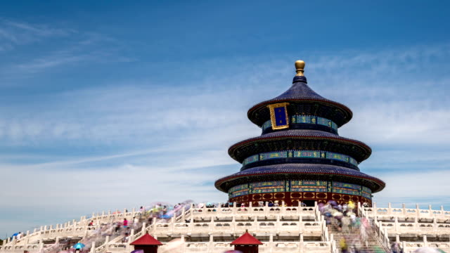 t/l hyperlapse temple of heaven / beijing, china - temple of heaven stock videos & royalty-free footage
