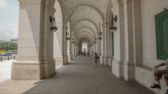 Hyperlapse through arches of Union Station