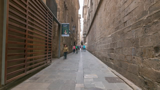 Hyperlapse through Barcelona's Gothic Quarter, Spain