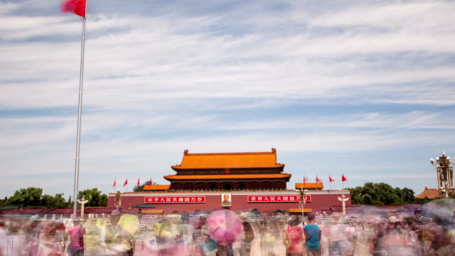 t/l hyperlapse tiananmen square / beijing, china - tiananmen square stock videos and b-roll footage