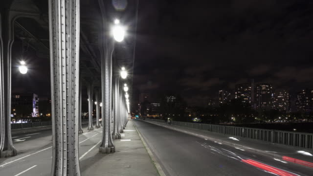 Hyperlapse / Time lapse on the Bir Hakeim bridge in Paris