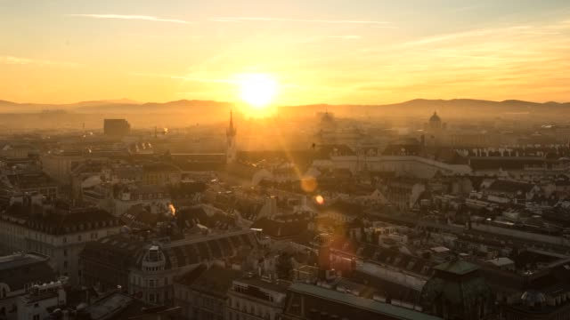 hyperlapse timelapse of cityscape skyline, vienna, austria, europe. - time-lapse - wien stock-videos und b-roll-filmmaterial