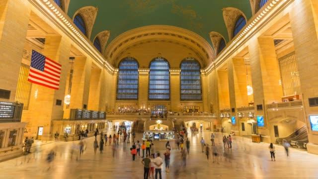 Hyperlapse timelapse of Grand Central Station Terminal, New York, New York, USA. - Time-Lapse