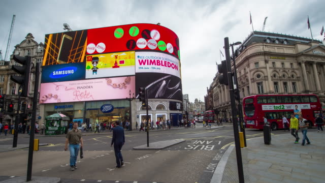 hyperlapse timelapse of piccadilly circus square, london, england, uk, europe. - time-lapse - awe stock videos & royalty-free footage