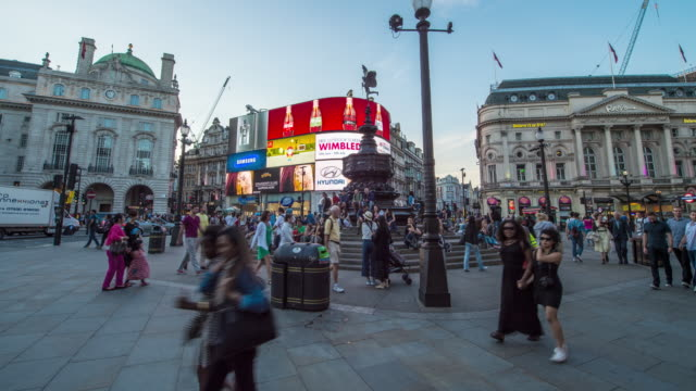 vídeos y material grabado en eventos de stock de hyperlapse timelapse of piccadilly circus square, london, england, uk, europe. - time-lapse - piccadilly circus