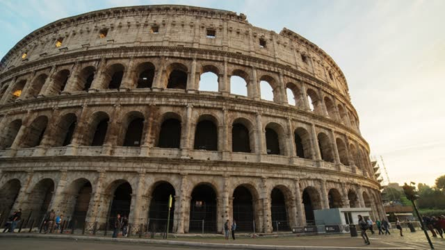 hyperlapse timelapse of roman colosseum in rome, italy, europe. - time-lapse - famous place stock videos & royalty-free footage
