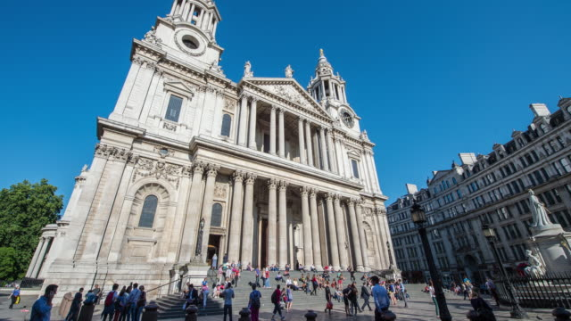 hyperlapse timelapse of st pauls cathedral, london, england, uk, europe. - time-lapse - cathedral stock videos & royalty-free footage