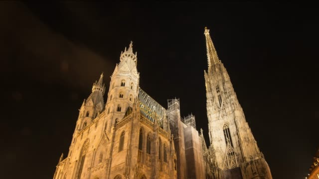hyperlapse timelapse of stephansdom, st stephens cathedral, vienna, austria, europe. - time-lapse - austria stock videos & royalty-free footage