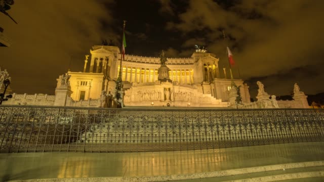 hyperlapse timelapse of the altare della patria monument, vittoriano in rome, italy, europe. - time-lapse - altare della patria stock videos and b-roll footage
