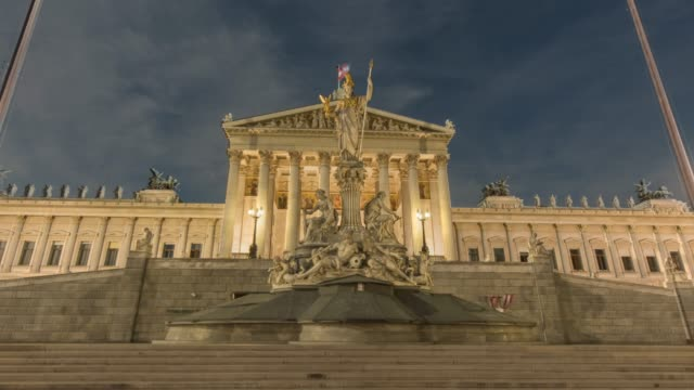 hyperlapse timelapse of the austrian parliament building, vienna, austria, europe. - time-lapse - vienna austria stock videos & royalty-free footage