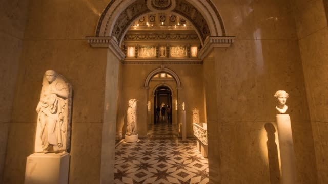 Hyperlapse timelapse of the interior of National History Museum, Vienna, Austria, Europe. - Time-Lapse
