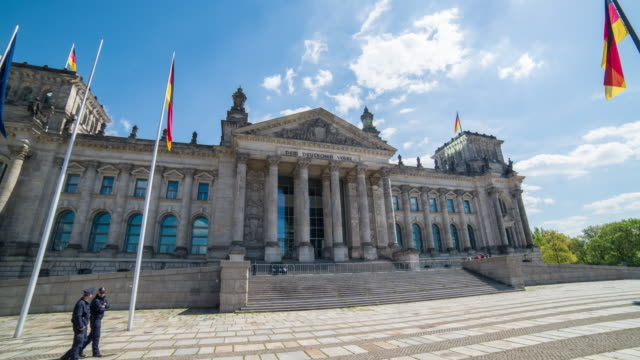 hyperlapse timelapse of the reichstag building in berlin, germany, europe. - time-lapse - the reichstag stock videos & royalty-free footage