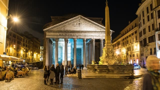 hyperlapse timelapse of the roman pantheon in rome, italy, europe. - time-lapse - pantheon rome stock videos and b-roll footage
