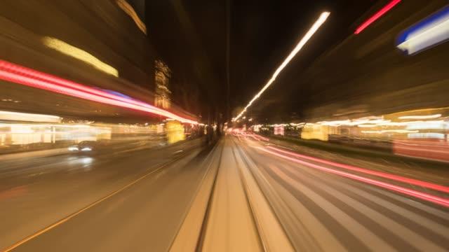 vidéos et rushes de hyperlapse timelapse of vienna, austria, europe. - time-lapse - ligne de tramway