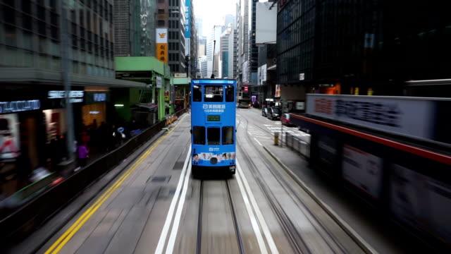 ハイパーラプスの移動は、香港の街の通りです。