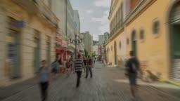 Hyperlapse - Walking through a historic street in Florianópolis