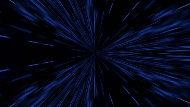vidéos et rushes de fond d'animation de vitesse de lumière d'hyperespace. - éternité