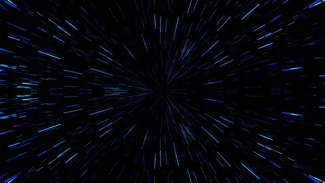 hyperspace lichtgeschwindigkeit animation hintergrund. - verzerrtes bild stock-videos und b-roll-filmmaterial