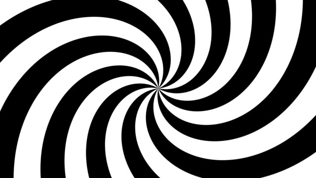 hypnosis spiral, concept for hypnosis, unconscious, chaos, extra sensory perception, psychic, stress, strain, optical illusion - spiral stock videos & royalty-free footage