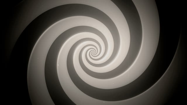 hypnotic spiral (old) - loop - spiral stock videos and b-roll footage
