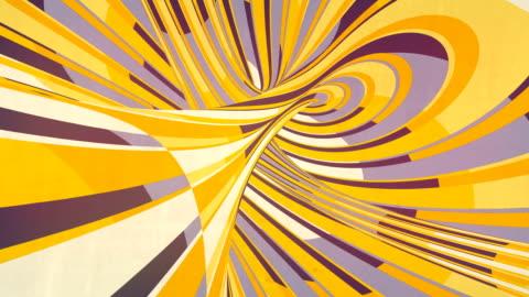 vidéos et rushes de illusion optique spirale hypnotique. lignes de courbe colorées de mouvement. animation de boucle de rendu 3d. 4k, résolution ultra hd - infini