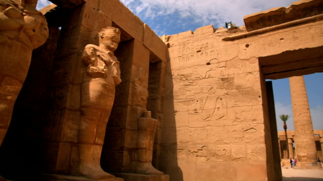 hypostyle hall from karnak temple, luxor egypt - valley of the kings stock videos & royalty-free footage