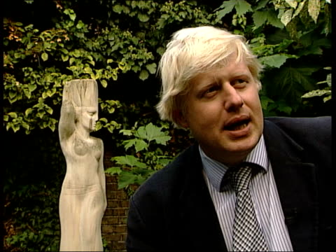 one year as conservative leader itn london boris johnson mp interviewed sot of course he's hip hop happening that is not a problem at all he's hipper... - boris johnson stock videos and b-roll footage