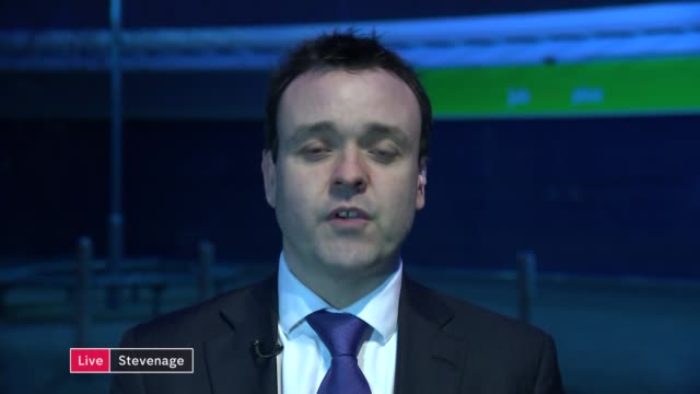 iain duncan smith resigns as work and pensions secretary england london gir int stephen mcpartland mp in stevenage live interview sot - stevenage stock videos and b-roll footage