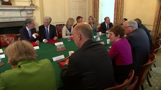 Iain Duncan Smith speaks publicly after resignation LIB / 1252015 Various shots of Cabinet meeting including David Cameron MP END LIB