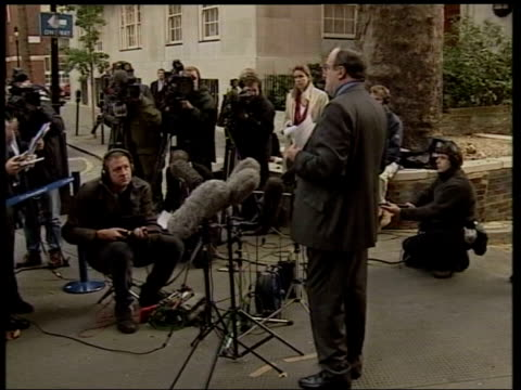 Wife allegations ITN London Smith Square Michael Ancram MP facing press Michael Ancram MP speaking to press SOT timing of it just before the...