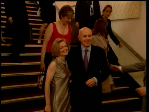 Wife allegations LIB Lancashire Blackpool Iain and Betsy Duncan Smith down stairs at hotel and pose for photocall