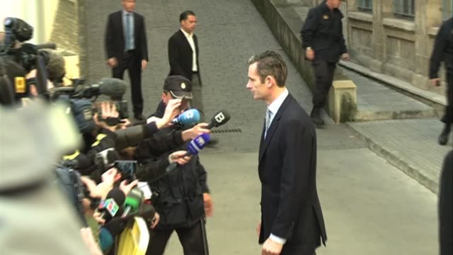 Iñaki Urdangarin son in law of the King of Spain Juan Carlos I arrives to Palma de Mallorca courthouse to testify at the trial of Caso Noos The judge...