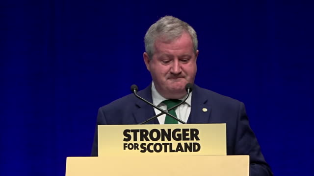 ian blackford calling on jeremy corbyn and jo swinson to support the snp in calling a vote of noconfidence in boris johnson - scottish national party stock videos & royalty-free footage