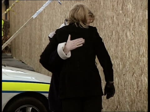 car photograph released side ms eilisa broadhurst embracing other woman at shooting scene pull out - pc ian broadhurst stock videos & royalty-free footage