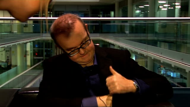 ian hislop interview ian hislop interview continued sot on brown 'save the world' he fancies himself as superhero on boris - ian hislop stock videos and b-roll footage