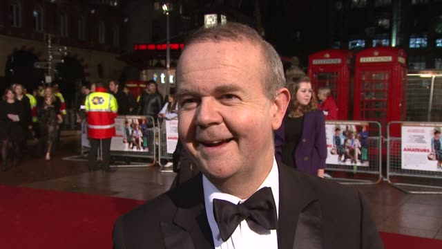 ian hislop on on the film, on how he got involved with writing the script, on casting burt reynolds at the royal premiere of a bunch of amateurs at... - ian hislop stock videos & royalty-free footage