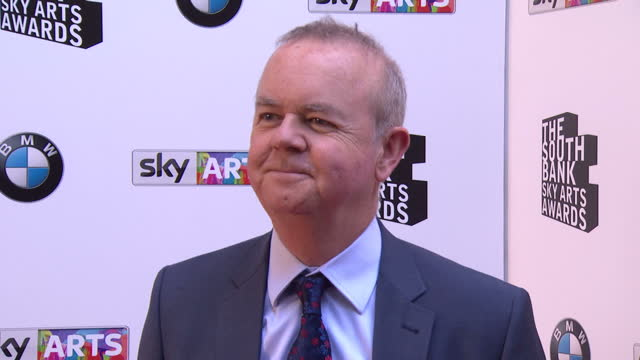 ian hislop posing for photos. sky arts awards honouring best of theatre, film, music and art take place at the south bank centre in london. - ian hislop stock videos & royalty-free footage