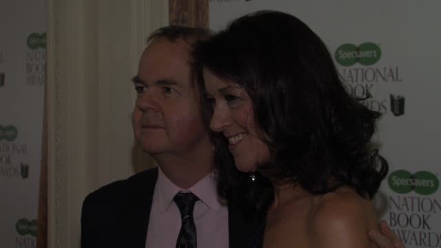 ian hislop, victoria hislop at specsavers national book awards at mandarin oriental hyde park on december 4, 2012 in london, england. - ian hislop stock videos & royalty-free footage