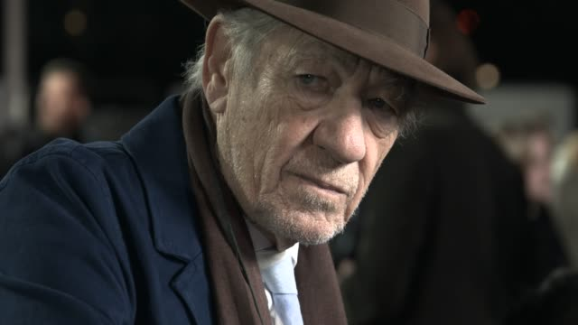 """ian mckellen at """"the good liar"""" world premiere at bfi southbank on october 28, 2019 in london, england. - ian mckellen stock videos & royalty-free footage"""