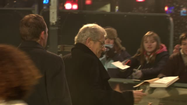 ian mckellen at 'the hobbit' uk premiere and royal film performance at odeon leicester square on december 12, 2012 in london, england. - the hobbit stock videos & royalty-free footage