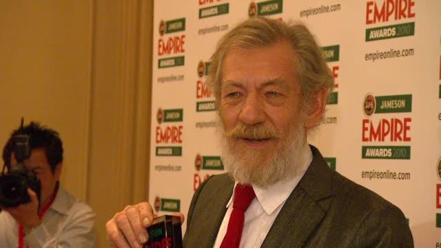 ian mckellen at the jameson empire awards at london england. - ian mckellen stock videos & royalty-free footage