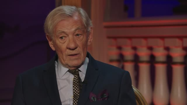 ian mckellen collecting his olivier award on october 20 in london, uk. - picking up stock videos & royalty-free footage