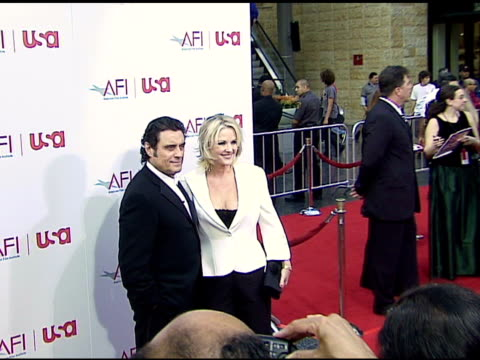 ian mcshane and wife gwen humble at the 34th afi life achievement award: a tribute to sean connery at the kodak theatre in hollywood, california on... - afi life achievement award stock videos & royalty-free footage