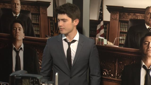 ian nelson at the judge los angeles premiere at ampas samuel goldwyn theater on october 01 2014 in beverly hills california - samuel goldwyn theater stock videos & royalty-free footage