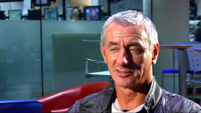 ian rush interview; england: london: gir: int ian rush interview set-ups rush interview sot - talks about his new book which is an autobiography/book... - ウェールズ文化点の映像素材/bロール